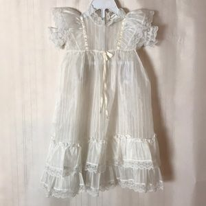 Vintage Christening Dress & Cap